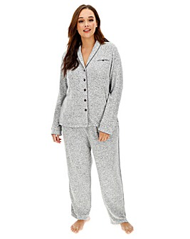 Figleaves Curve Luxe Marl Button Up PJ
