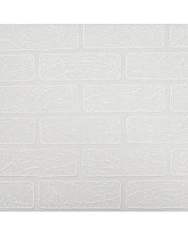 Superfresco Brick Paintable White Wallpaper