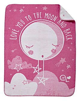 Claire De Lune Over the Moon Blanket