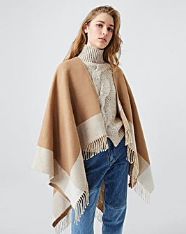 French Connection Fringed Blanket Scarf