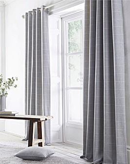 Appletree Windsor Check Eyelet Curtains
