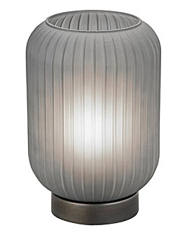 Grey Frosted Glass Table Lamp