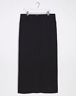 Lee Denim Split Front Skirt