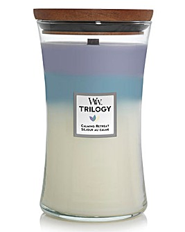 Woodwick Trilogy Large Hourglass Calming Retreat
