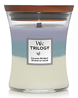 Woodwick Trilogy Medium Hourglass Calming Retreat