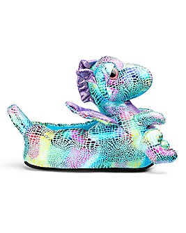 Dragon Novelty Slipper Wide Fit