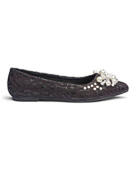 Breanna Jewelled Shoe Wide E Fit