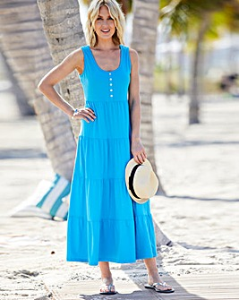 Julipa Tiered Jersey Maxi Dress