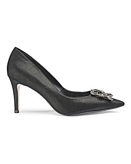 Dune Wide Fit Bettie Embellished Court Shoe Standard Fit