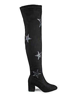 Daisy Street Star Over The Knee Boot