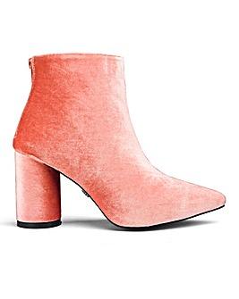 Daisy Street Velvet Ankle Boots