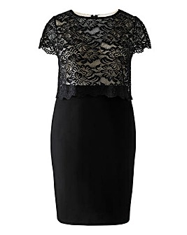Lipstick Boutique Double Layered Lace Pencil Dress