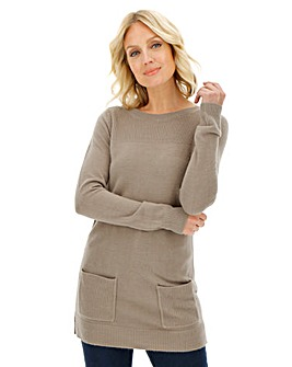 Super Soft Tunic Jumper with Pockets