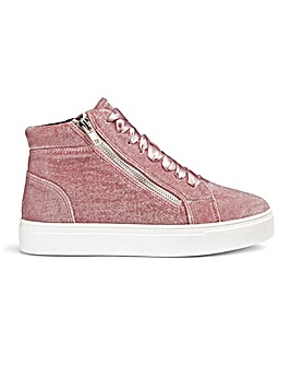Rosa Velvet Hi Tops Extra Wide EEE Fit