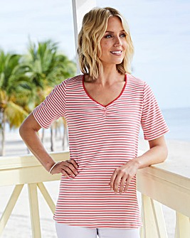 V- Neck Stripe T-Shirt
