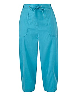 Julipa Pull On Cotton Cropped Trousers