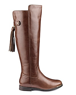 Katie Leather Boot Standard Calf Wide E Fit