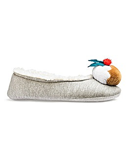 Christmas Pudding Ballerina Slippers