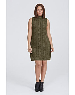Elvi Khaki Lace Dress