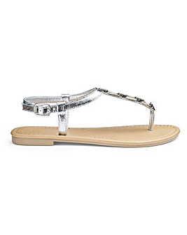 Kendra Toepost Sandals Extra Wide EEE Fit