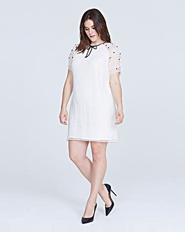 Elvi Embellished Lace Dress
