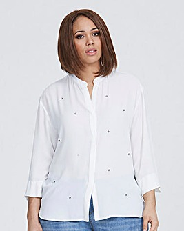 Elvi White Embellished Blouse