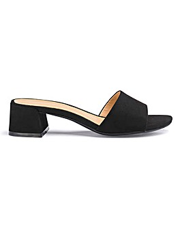 Athena Low Block Mule Extra Wide EEE Fit