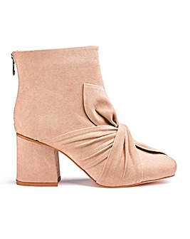 Leia Bow Detail Boots Wide Fit