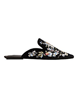 Violeta by Mango Embroidered Mule Standard Fit