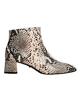 Violeta by Mango Faux Snake Ankle Boot