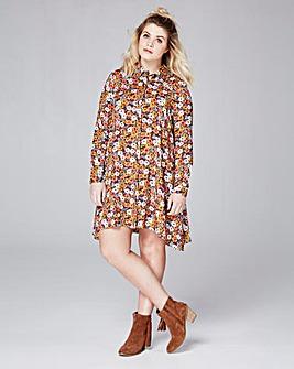 Alice & You Daisy Print Shirt Dress