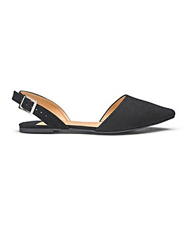 Lizzie Slingback Points Wide Fit