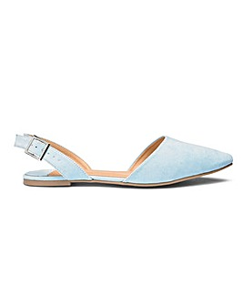 Lizzie Slingback Points Extra Wide Fit