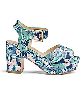 Jenni Platform Sandals Wide Fit