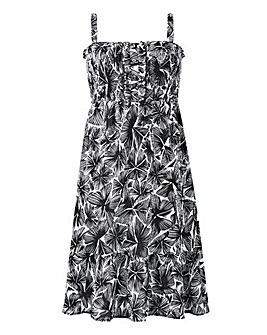 Crinkle Sundress With Detachable Straps
