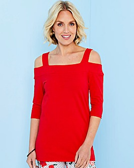 Julipa Red Bardot Jersey Top