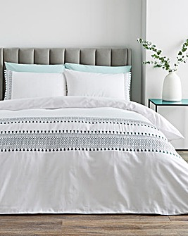 April Embroidered Tassels Duvet Set