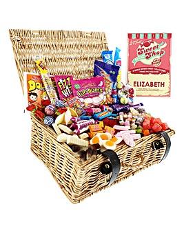 Personalised Retro Sweets Hamper