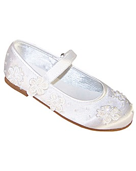 Sparkle Club White Satin Shoes