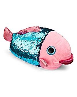 Sequin Fish Slipper