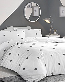 Appletree Kids Tufted Grey Star Duvet Set
