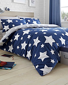 Bedlam Blue Star Duvet Set