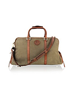 "Woodland Leather 20"" Holdall Shoe Pkt"