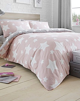 Bedlam Pink Star Duvet Set