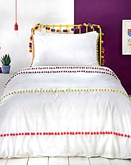 Appletree Kids Pom Pom Stripe Duvet Set