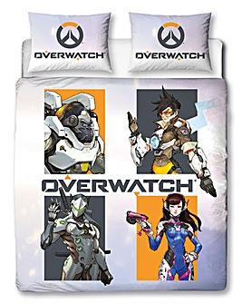 Overwatch Grid Reversible Duvet Set