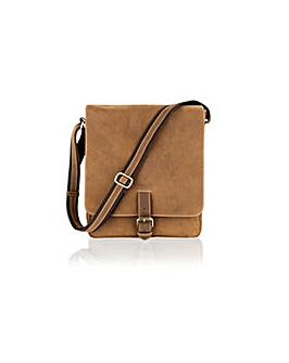 "Woodland Leather Portrait 12"" Mssng Bag"