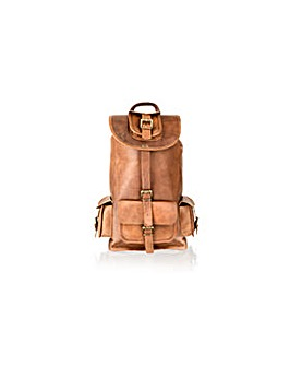 Woodland Leather Back Pack 16""