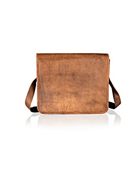 "Woodland Leather 15"" Medium Mssng Bag"