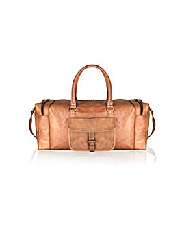 "Woodland Leather 23"" Multi Pkt Holdall"